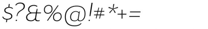 Osnova Pro Light Italic Font OTHER CHARS