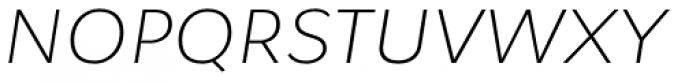 Osnova Pro Light Italic Font UPPERCASE