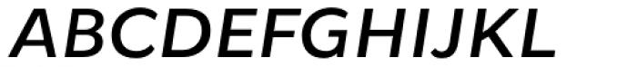 Osnova Pro Medium Italic Font UPPERCASE