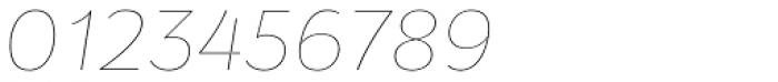 Osnova Pro Thin Italic Font OTHER CHARS