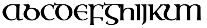 Ossian Gaelic EF Bold Font UPPERCASE