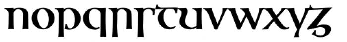 Ossian Gaelic EF Bold Font LOWERCASE