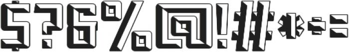 Othon_Beveled otf (400) Font OTHER CHARS