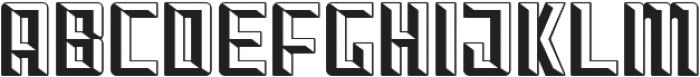 Othon_Beveled otf (400) Font LOWERCASE