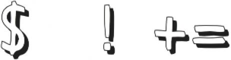 Otter Pop Shadow Regular otf (400) Font OTHER CHARS