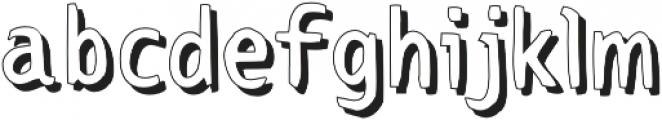Otter Pop Shadow Regular otf (400) Font LOWERCASE