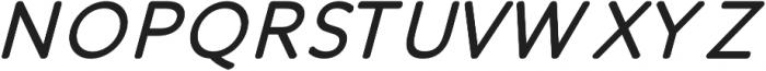 Otto Regular Italic ttf (400) Font UPPERCASE
