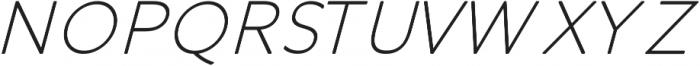 Otto Thin Italic ttf (100) Font UPPERCASE