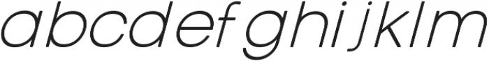 Otto Thin Italic ttf (100) Font LOWERCASE