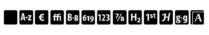 OTFIcons Font LOWERCASE
