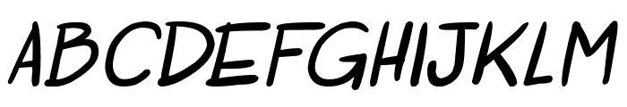 Otaku Rant Bold Italic Font LOWERCASE