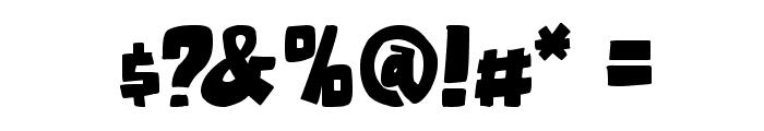 Otaku Rant Bold Font OTHER CHARS