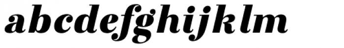 Otama UltraBlack Italic Font LOWERCASE