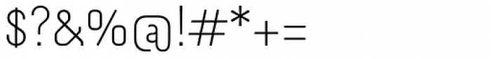 Otsu Sans Thin Font OTHER CHARS