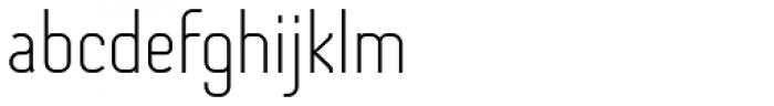 Otsu Sans Thin Font LOWERCASE