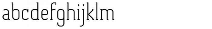 Otsu Slab Thin Font LOWERCASE