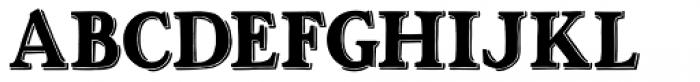 Ottanio Shaded Font UPPERCASE