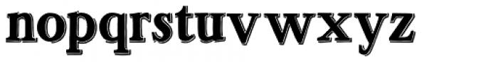 Ottanio Shaded Font LOWERCASE
