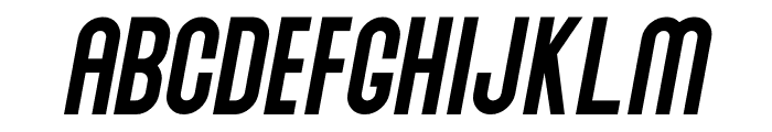 Abraham Italic Font UPPERCASE