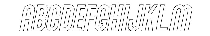 Abraham Outline Italic Font LOWERCASE