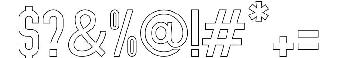 Abraham Outline Font OTHER CHARS