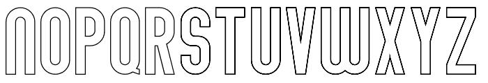 Abraham Outline Font LOWERCASE