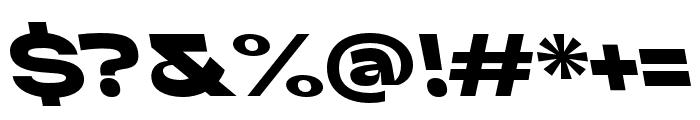 Adieu Black Backslant Font OTHER CHARS