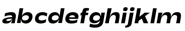 Adieu Bold Slanted Font LOWERCASE