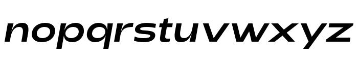 Adieu Regular Slanted Font LOWERCASE