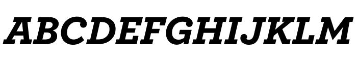 Archer Black Italic Font UPPERCASE