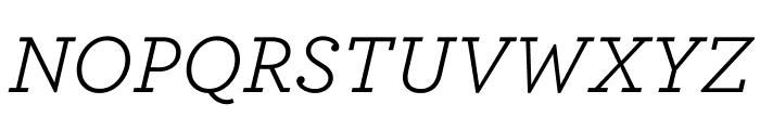 Archer Book Italic Font UPPERCASE