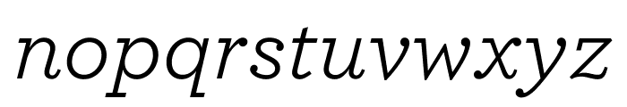 Archer Book Italic Font LOWERCASE
