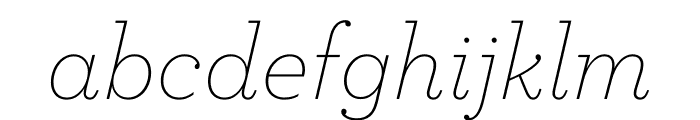 Archer Extra Light Italic Font LOWERCASE