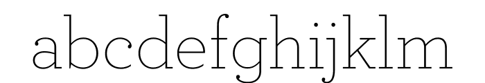 Archer Extra Light Font LOWERCASE