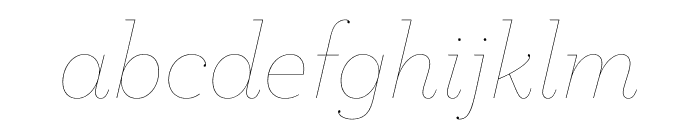 Archer Hairline Italic Font LOWERCASE