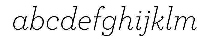 Archer Light Italic Font LOWERCASE