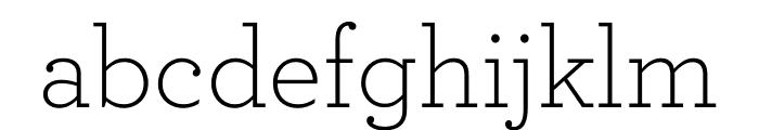 Archer Light Font LOWERCASE