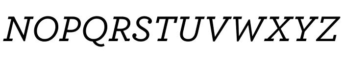 Archer Medium Italic Font UPPERCASE