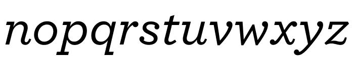 Archer Medium Italic Font LOWERCASE