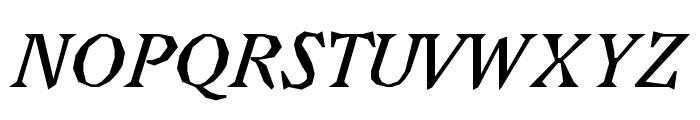 Avara Bold Italic Font UPPERCASE