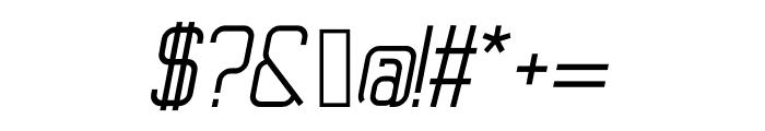 Ballege Regular Oblique Font OTHER CHARS