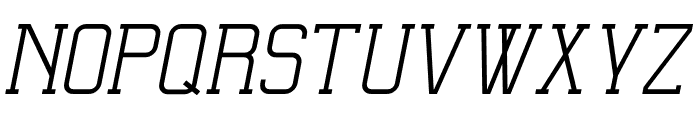 Ballege Regular Oblique Font UPPERCASE