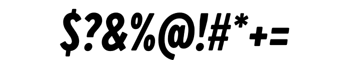 Brandon Grotesque Condensed Black Italic Font OTHER CHARS