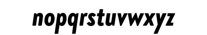 Brandon Grotesque Condensed Black Italic Font LOWERCASE