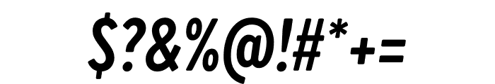 Brandon Grotesque Condensed Bold Italic Font OTHER CHARS