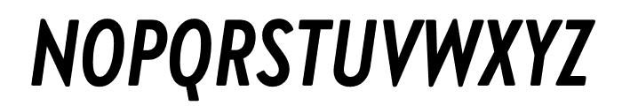 Brandon Grotesque Condensed Bold Italic Font UPPERCASE