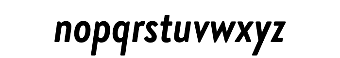 Brandon Grotesque Condensed Bold Italic Font LOWERCASE