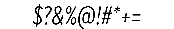 Brandon Grotesque Condensed Italic Font OTHER CHARS