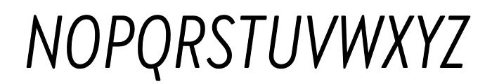 Brandon Grotesque Condensed Italic Font UPPERCASE