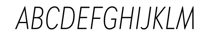 Brandon Grotesque Condensed Light Italic Font UPPERCASE